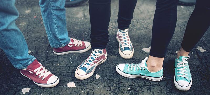 Män börjar handla skor i större utsträckning